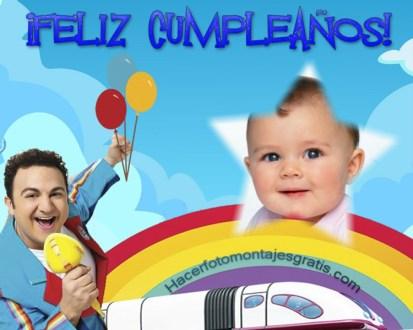 Fotomontaje de TOPA FELIZ CUMPLEAÑOS - Imagenes de cumpleaños con TOPA DISNEY JUNIOR - MArcos de TOPA para cumpleaños