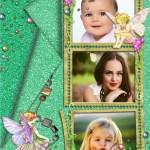 Marco de angelitos para tres fotos