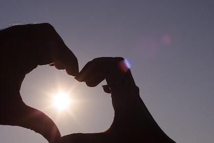 ヴァレンタインデーを象徴するハート
