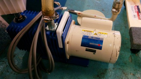 Roughing pumps like it rough and covered in oil.