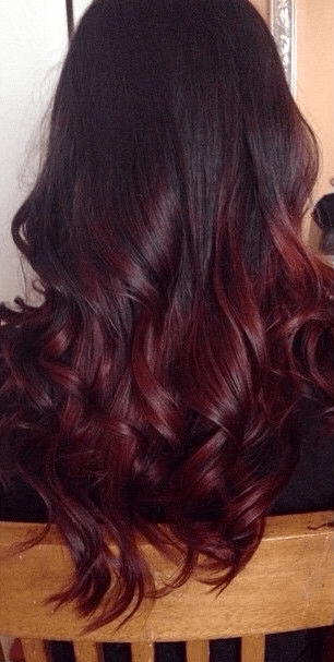 22 Fiery Red Ombre Hair Color Ideas 1Cherry Cola Ombre