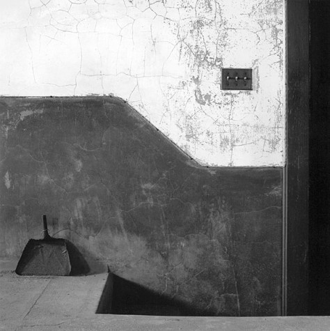 David Simonton. Dust Pan, Morgue, Ellis Island, New York Harbor, 1989