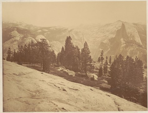 The Bancroft Library. Carleton Watkins. The Domes from the Sentinel Dome, Yosemite.