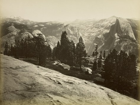 J. Paul Getty Museum. Carleton Watkins. The Domes from the Sentinel Dome, Yosemite.