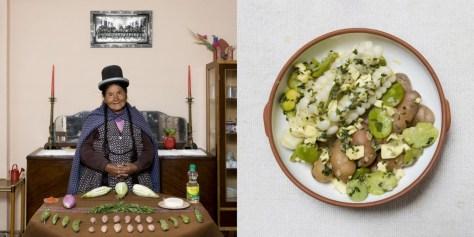 Julia Enaigua, 71 years old. La Paz, Bolivia. Queso Humacha (vegetables and fresh cheese soup).