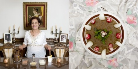 Wadad Achi, 66 years old. Beirut, Lebanon. Mjadara (rice and lentils cream).