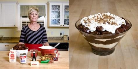 Melanie Hill , 50 years old. American Fork, Utah, U.S.A. Chocolate Toffee Trifle.