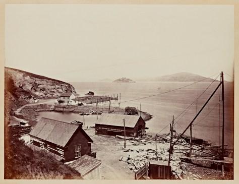 Carleton Watkins. Alcatraz from North Point, 1862–1863.