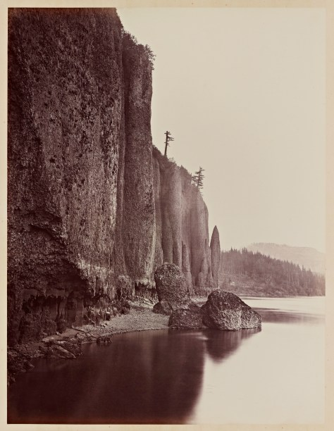 Carleton Watkins. Cape Horn, Columbia River, 1867.