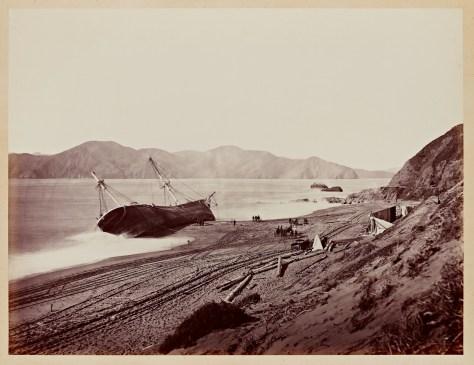 Carleton Watkins. The Wreck of the Viscata, 1868.