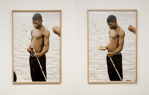 Daniel Shea. Untitled (Fishing Diptych) from Blisner, IL, 2013.