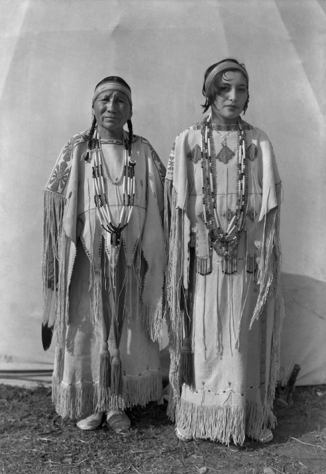 """Sindy Libby Keahbone (Kiowa) and Hannah Keahbone (Kiowa),"" Oklahoma City, Oklahoma, 1930."