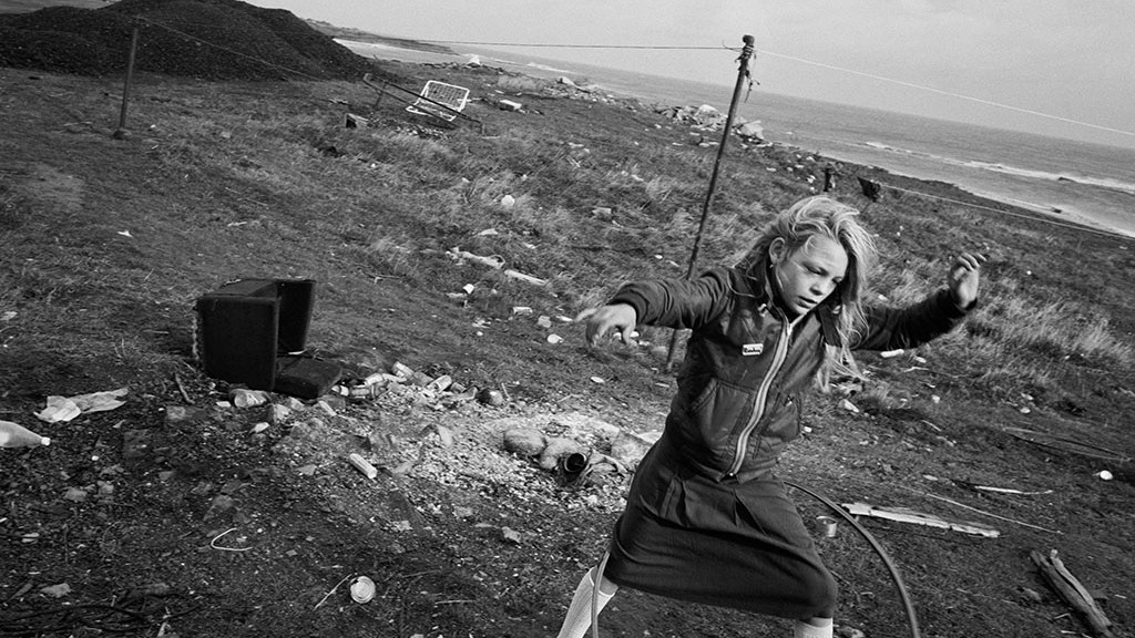 Helen and Her Hula-hoop, Lynemouth, Northumberland