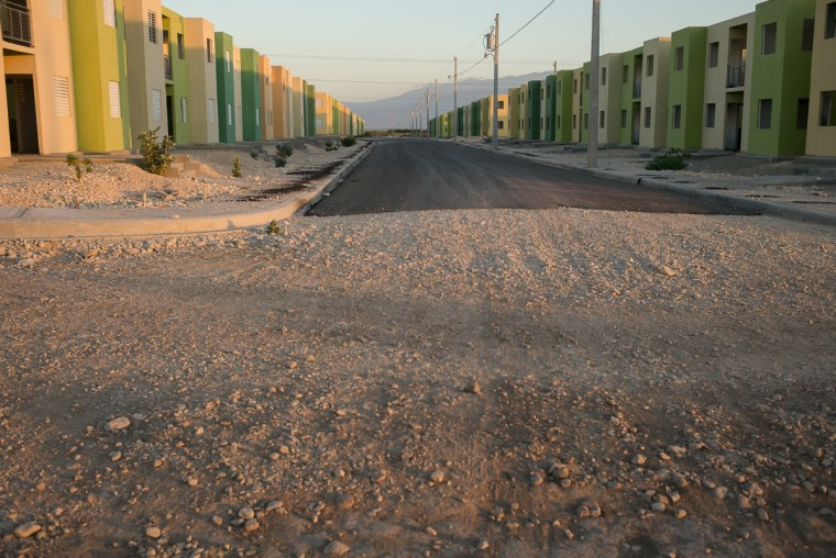 Pradip Malde: Morne a Cabrit Housing Project, near Port Au Prince. February, 2014