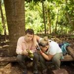 Hunter Swenson, coconut and Mansell Ambrose. Bois Jolie, Haiti. May, 2015