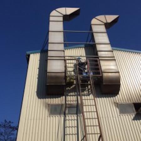 剥離装置煤煙測定の日2