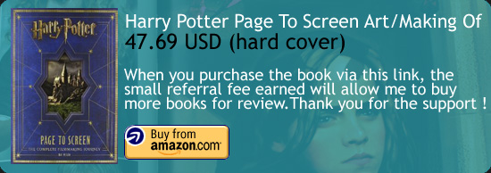 Harry Potter Page to Screen : Filmmaker's Journey Art Book Amazon Buy Link