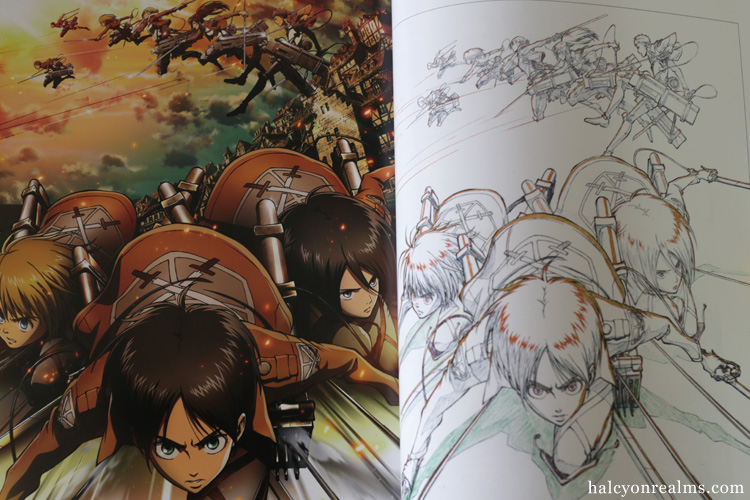 Attack On Titan Genga Collection Vol 1 Art Book