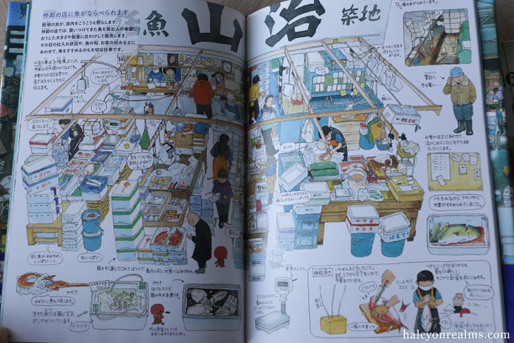 Tsukiji Fish Market - Morinaga Yo Illustration Book Review