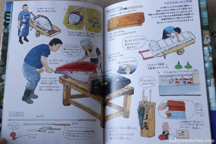 Tsukiji Fish Market - Morinaga Yo Illustration Book Review