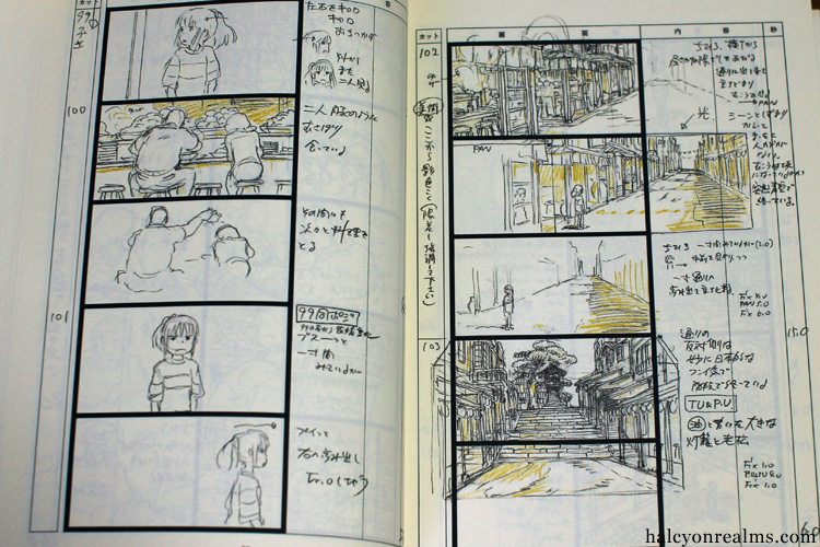 The Art Of Spirited Away - Storyboard Book