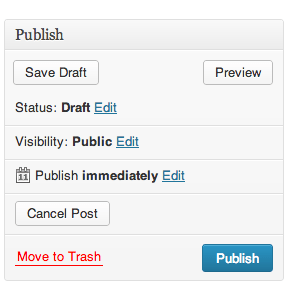 WordPress Cancel Post Button