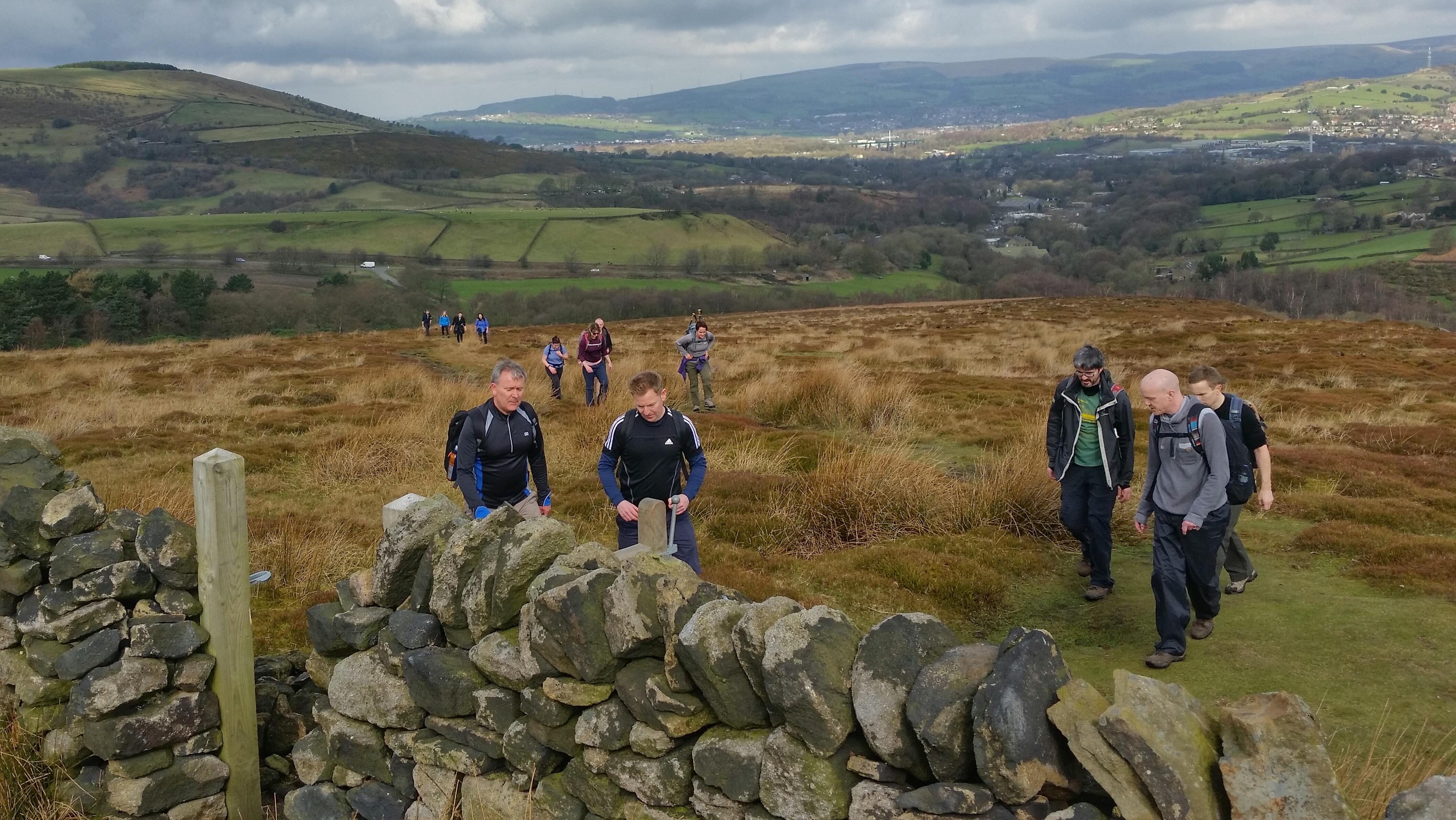 Freshwalks Glossop to Kinder downfall hike dark peak