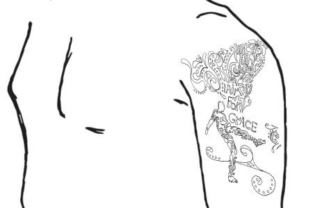 shoulder template fin