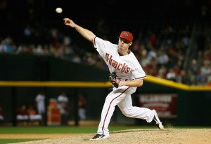 Chase Anderson delivers a pitch during a game against the Texas Rangers at Chase Field on April 21, 2015 (Christian Petersen/Getty Images)