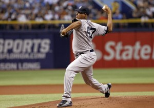 Ivan Nova delivers a pitch during the first inning of a game against the Tampa Bay Rays at Tropicana Field on April 19, 2014 (Brian Blanco/Getty Images)