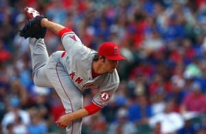 C.J. Wilson delivers a pitch during the third inning of a game against the Texas Rangers at Globe Life Park on July 5, 2015 (Tom Pennington/Getty Images)