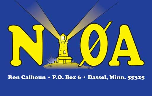 NY0A ham radio cartoon QSL by N2EST