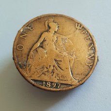 Old penny from 1897