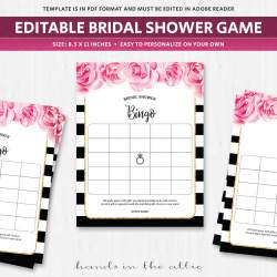 Rummy Printable Bridal Shower Bingo Chips Bridal Shower Bingo Amazon Bridal Shower Bingo Template Bridal Shower Bingo Template Black baby shower Bridal Shower Bingo