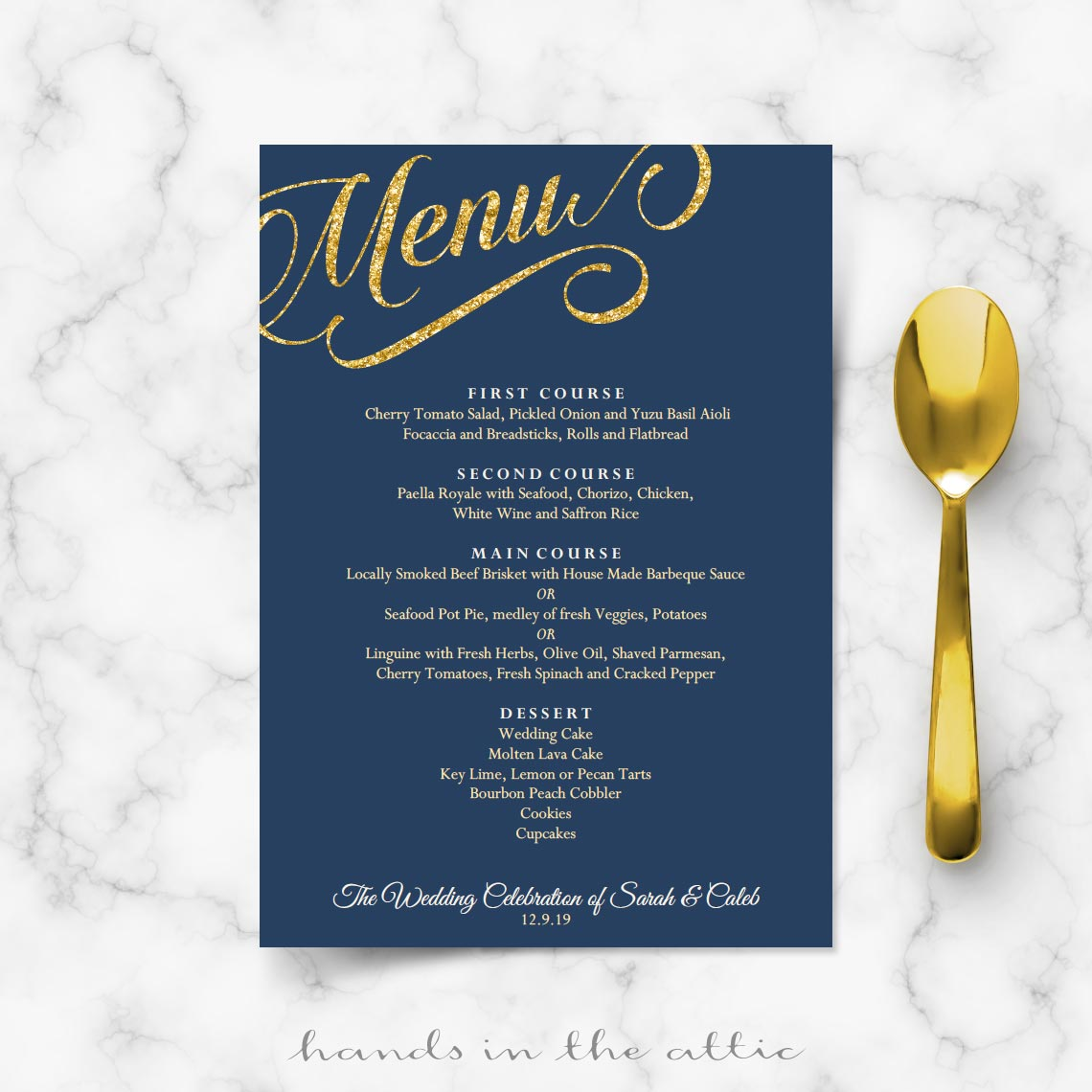 Divine G Wedding Menu Navy Blue G Bridesmaid Dresses G Wedding Menu Template Reception Menu Cards Navy Blue G Suit Navy Blue Navy Blue inspiration Navy Blue And Gold
