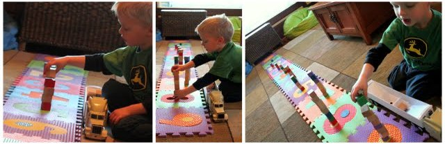counting activity for preschooler with blocks