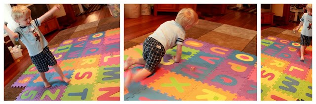 Letter Learning Activity with the ABC Mat!