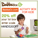 20% off BabbaBox! HANDS20OFF