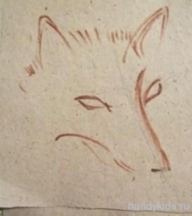 Рисуем голову лисы поэтапно