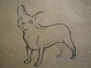 Рисуем французского бульдога