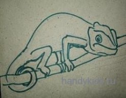 Контурный рисунок-хамелеон