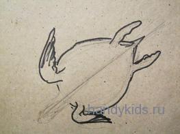 Ласты морской черепахи похожи на крылья.
