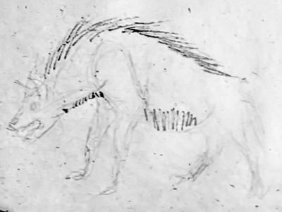 Рисунок гиена 1