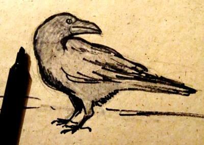 Рисунок Чёрный Ворон