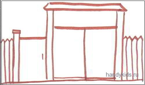 Раскраска Ворота