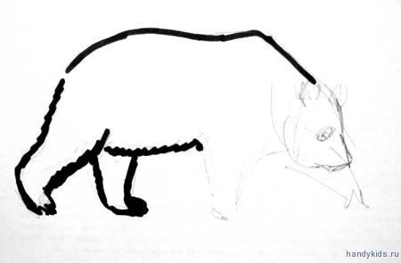 Рисование панды