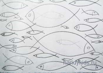 Раскраска Рыбы в море