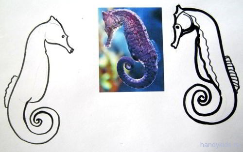 Картинка морской конёк