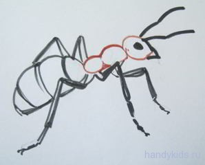 Как рисовать муравья.
