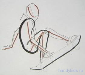 Как рисовать спортсмена